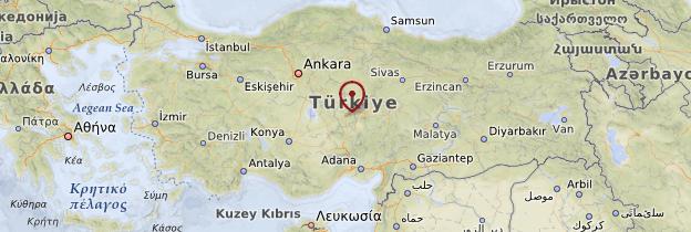 Carte Cappadoce - Turquie