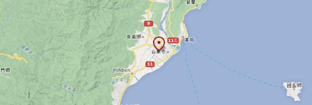 Carte Taitung - Taiwan