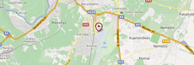 Carte Aéroport de Vilnius - Lituanie