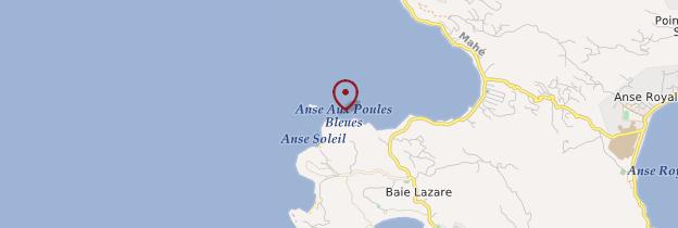 Carte Anse aux Poules Bleus - Seychelles
