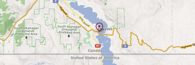Carte Osoyoos - Canada