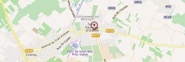 Carte Saint-Georges-d'Oléron - Poitou, Charentes