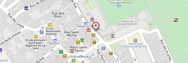 Carte Palais ducal - Lorraine