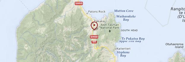 Carte Takaka - Nouvelle-Zélande
