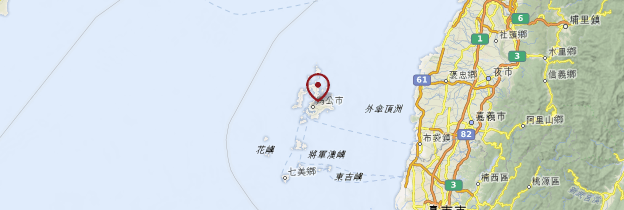 Carte Îles Penghu - Taiwan