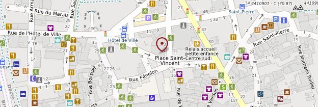 Carte Vieille-ville et quartier du Bouffay - Nantes