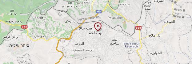 Carte Bethléem - Israël, Palestine
