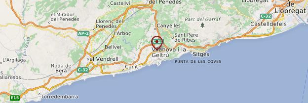 Carte Vilanova i la Geltrú - Catalogne