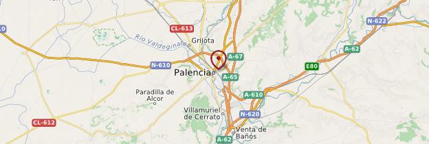 Carte Palencia - Espagne