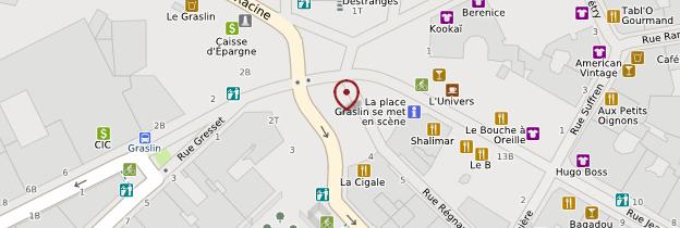 Carte Quartier Graslin - Nantes