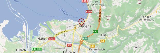 Carte Bregenz - Autriche