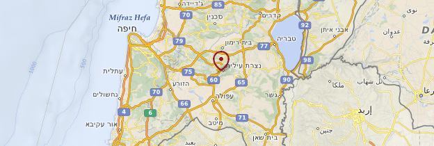 Carte Nazareth - Israël, Palestine