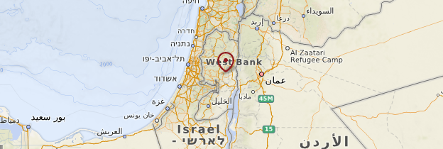 Carte Cisjordanie - Israël, Palestine