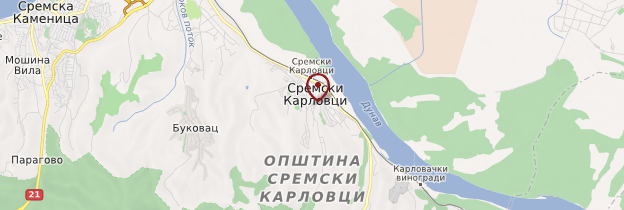 Carte Sremski Karlovci - Serbie