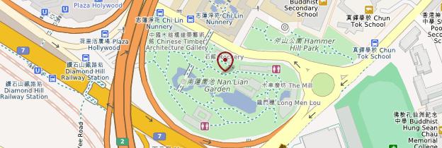 Carte Jardin Nan Lian - Hong Kong