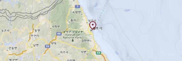 Carte Sokcho - Corée du Sud