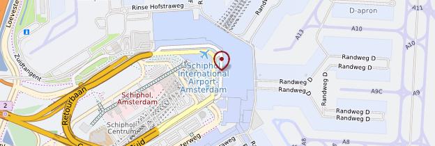 Carte Aéroport d'Amsterdam-Schiphol - Amsterdam