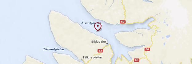 Carte Arnarfjörður - Islande