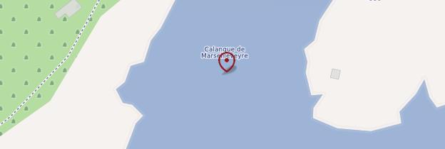 Carte Calanque de Marseilleveyre - Marseille