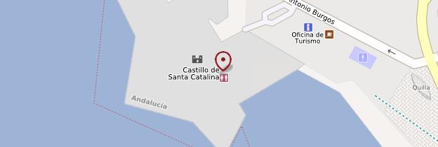 Carte Castillo Santa Catalina - Andalousie