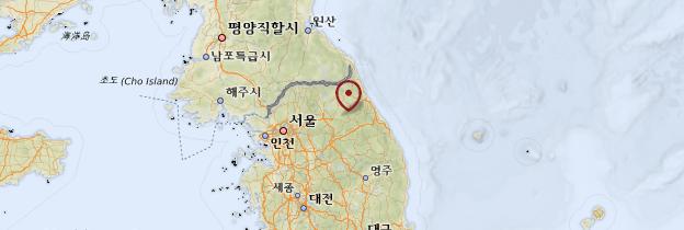 Carte Gangwon-Do - Corée du Sud