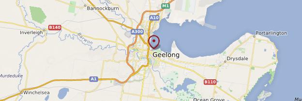 Carte Geelong - Australie