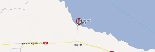 Carte Village flottant de Kompong Luong - Cambodge