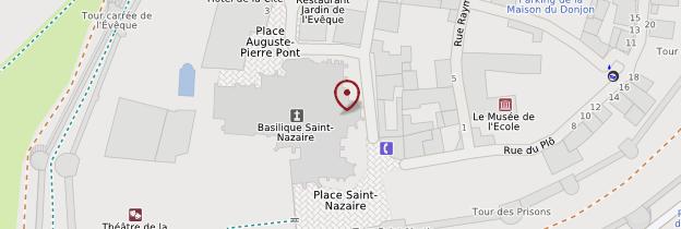 Carte Basilique Saint-Nazaire - Languedoc-Roussillon