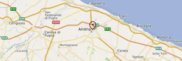 Carte Andria - Italie