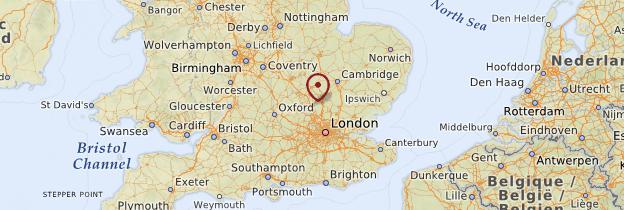 Carte Luton - Angleterre