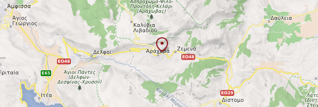 Carte Arachova - Grèce