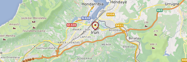 Carte Irun - Espagne