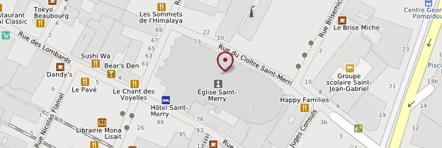 Carte Église Saint-Merri - Paris