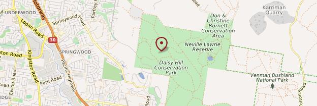 Carte Daisy Hill Conservation Park - Australie