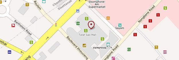 Carte Talat Sao (marché du matin) - Laos