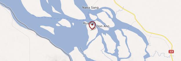 Carte Ile de Det (Don Det) - Laos