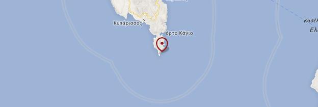 Carte Cap Ténare - Grèce