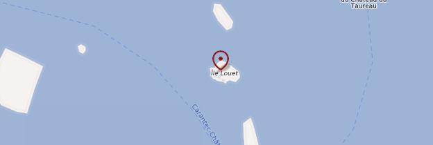 Carte Île Louët - Bretagne