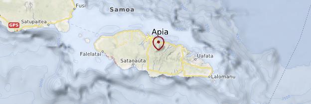 Carte Upolu - Samoa