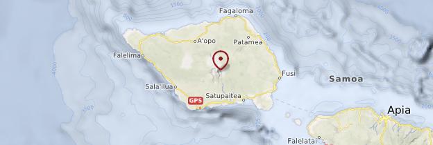 Carte Savai'i - Samoa