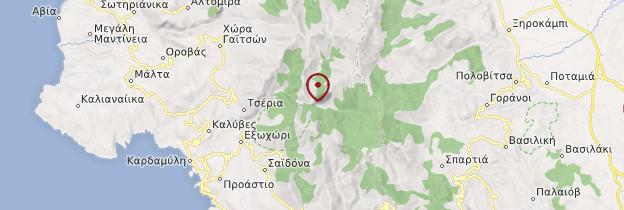 Carte Gorges du Vyros - Grèce