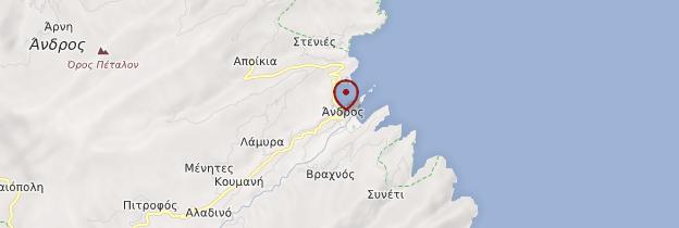 Carte Île d'Andros - Îles grecques