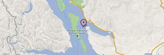 Carte Lac Nahuel Huapi - Patagonie
