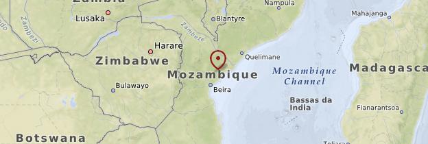 Carte Province de Sofala - Mozambique