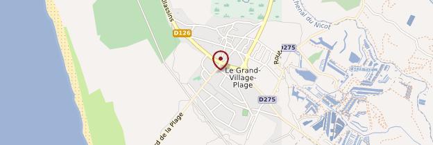 Carte Le Grand-Village-Plage - Poitou, Charentes