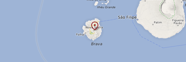 Carte Île de Brava - Cap-Vert