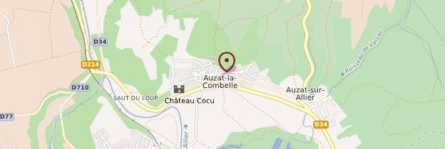 Carte Auzat-la-Combelle - Auvergne