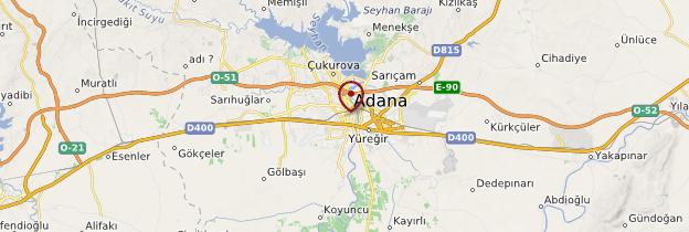 Carte Adana - Turquie