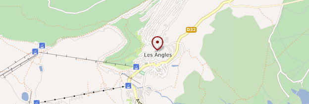 Carte Les Angles - Languedoc-Roussillon