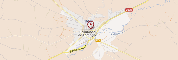 Carte Beaumont-de-Lomagne - Midi-Pyrénées